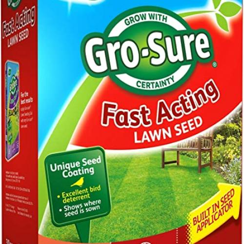 Gro-sure Fast Acting Lawn Seed 10m2 + 30% extra free